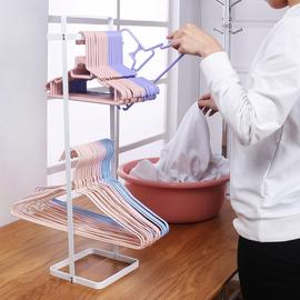 便携式衣架收纳架神器多功能落地家用阳台晒衣架整理架晾放衣架子