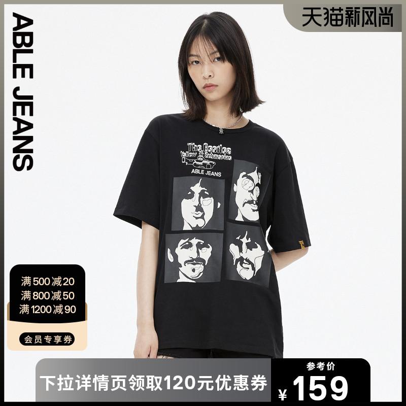 【薇娅推荐】ABLE JEANS 2021夏新款披头士联名男女同款短袖T恤