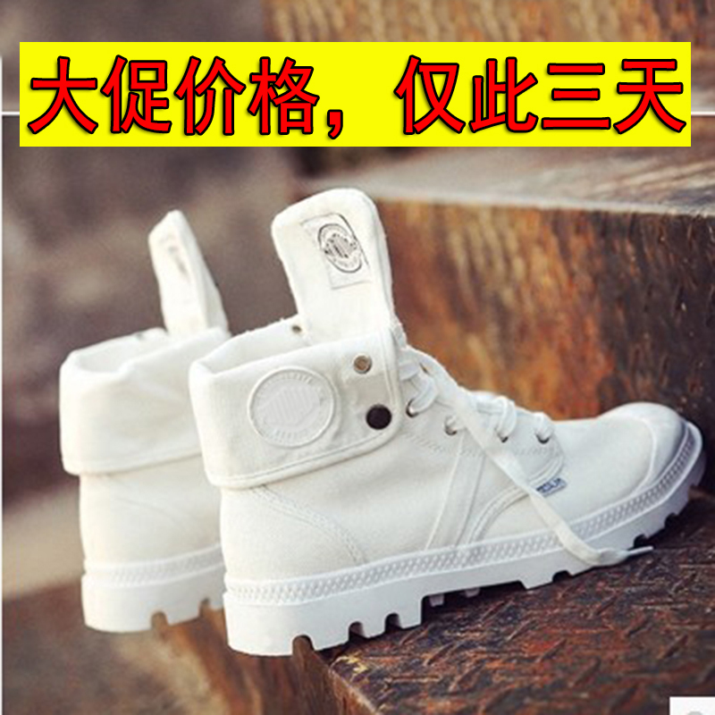 Autumn and winter tide shoes high top canvas shoes mens tide brand shoes breathable Korean lovers retro mountaineering shoes high waist Martin shoes