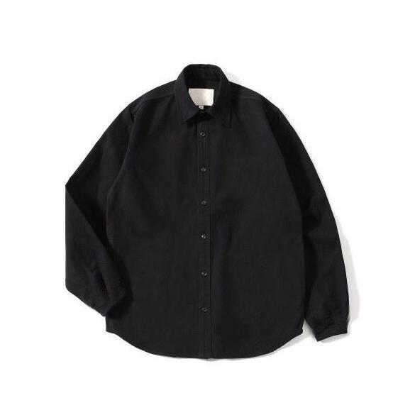 Pureピュア oversize 纯色 纯棉 宽松 版型  牛津纺 衬衫 黑白