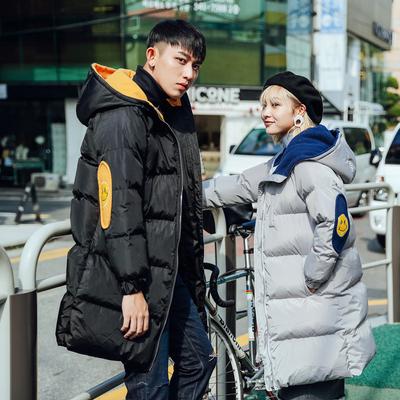 男装 20017冬季新款韩版宽松中长款情侣棉衣N965 P115