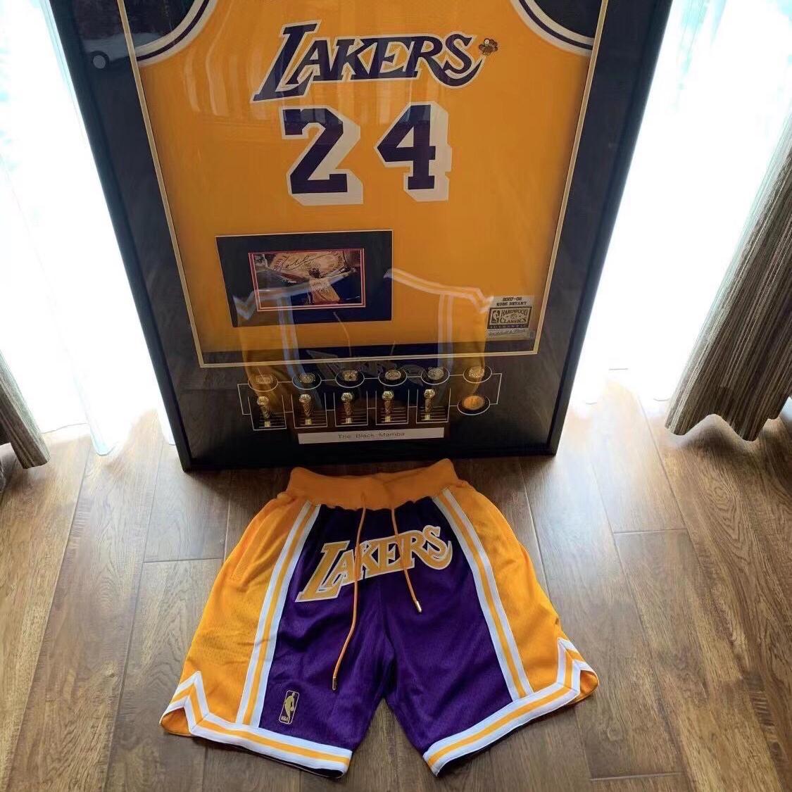 Mitchell Ness JD LEKERS湖人詹姆斯科比运动宽松复古篮球裤短裤