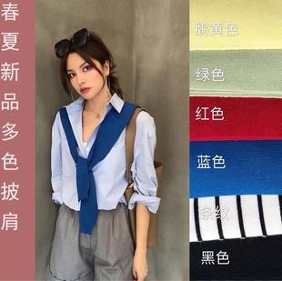 umi2020春季新款韩版纯色针织披肩
