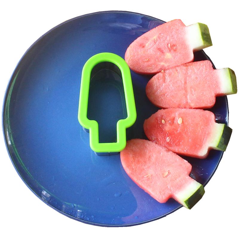 Нержавеющей стали творческий арбуз вырезать блок устройство мороженое лед палка моделирование плесень фрукты заклинание блюдо арбуз нарезанный сегментация устройство