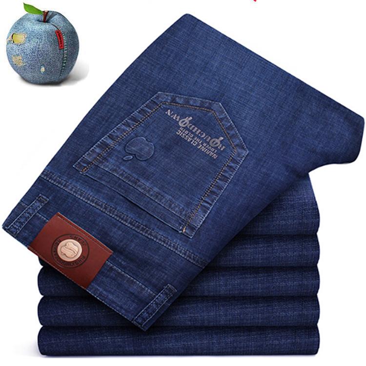 品牌美国加州苹果牛仔裤男裤高腰大码宽松休闲长裤时尚薄款男裤