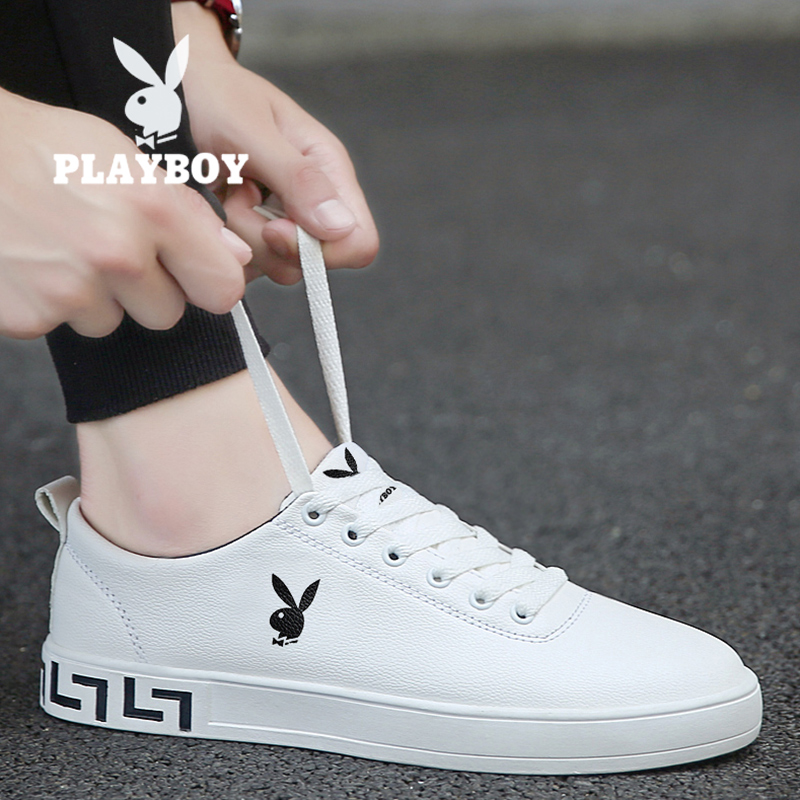Playboy men's shoes spring 2020 new small white sports shoes Korean Trend casual men's board shoes
