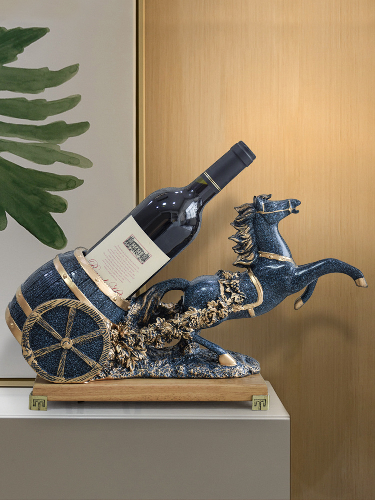 Horse red wine rack ornaments home decoration craft gift decoration Joe moved to a new house set table wine cabinet decoration