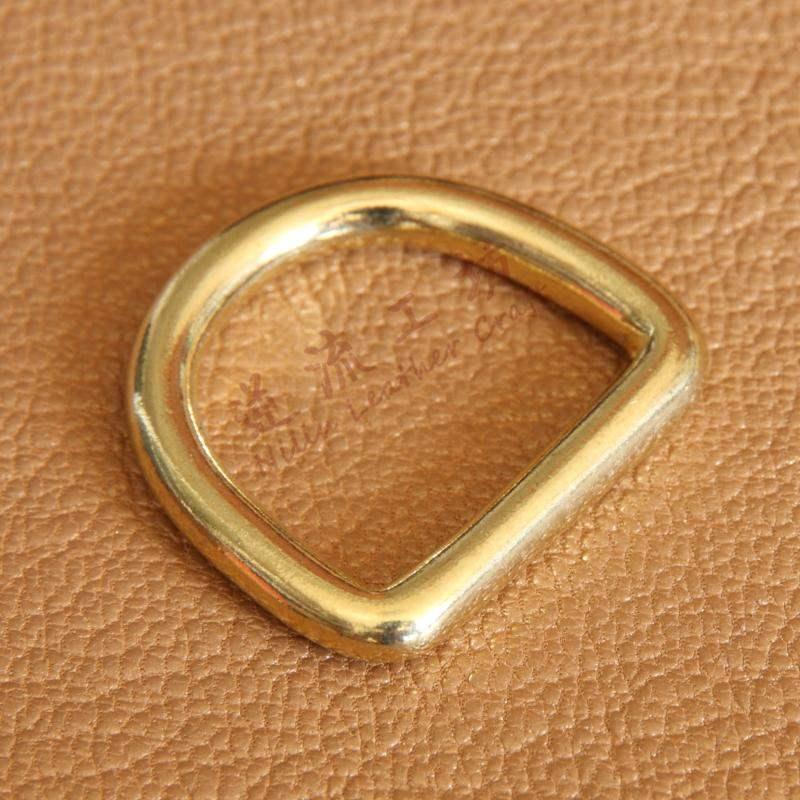 皮具d型箱包黄铜d型环纯铜无缝实心d型环d扣圈高档手工配件