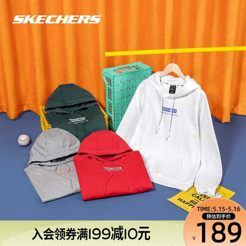 Viya recommended SKECHERS Skyic men's women hooded sets of solid color long sleeve shirt sports sweater