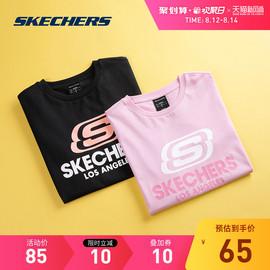 Skechers斯凯奇女装夏装新款宽松印花休闲半袖运动衣上衣短袖t恤图片