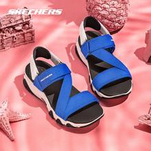 Skechers斯凯奇夏季厚底熊猫鞋运动凉鞋时尚魔术贴沙滩鞋88888181