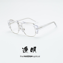 Big face glasses Frame tide man men and women transparent myopia eye frame Korean half frame net red anti-blue light retro matching degree