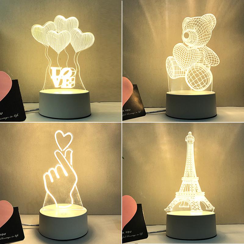 个性3d立体台灯