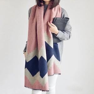 围巾女春秋冬季长款韩版格子围脖空调超大加厚披风仿羊绒披肩两用