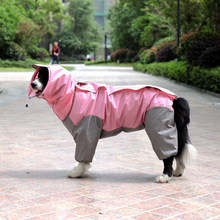 Dog Rainwear Four-legged Waterproof Teddy Golden Hair Medium-sized Dog Full Pack Labrador Pet Rainwear Big Dog Rainwear
