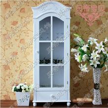 定制欧式雕花储物柜美式实木收纳柜衣柜书柜单门餐边柜瓷器柜B006