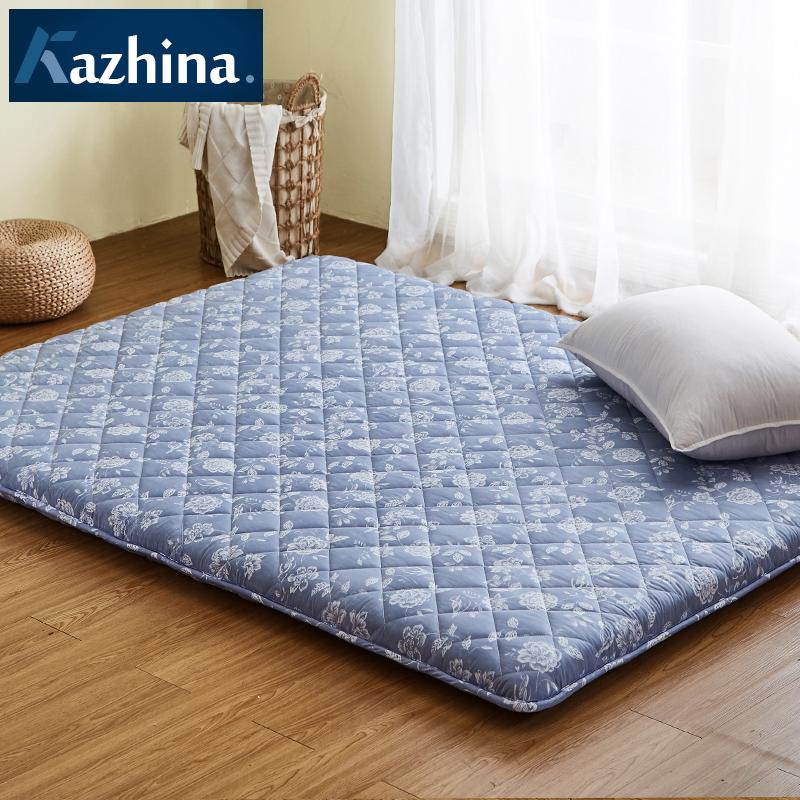 定制日式透气竹炭加厚榻榻米床垫软垫1.5m订做地铺睡垫折叠床褥子