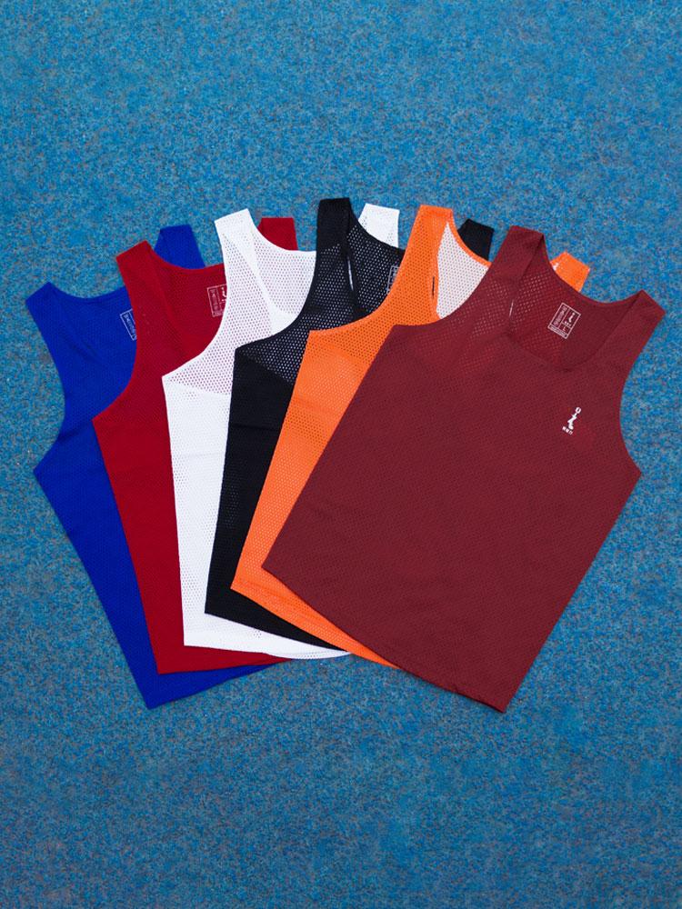 零阻力竞速运动背心男田径训练比赛马拉松跑步速干透气队服订制