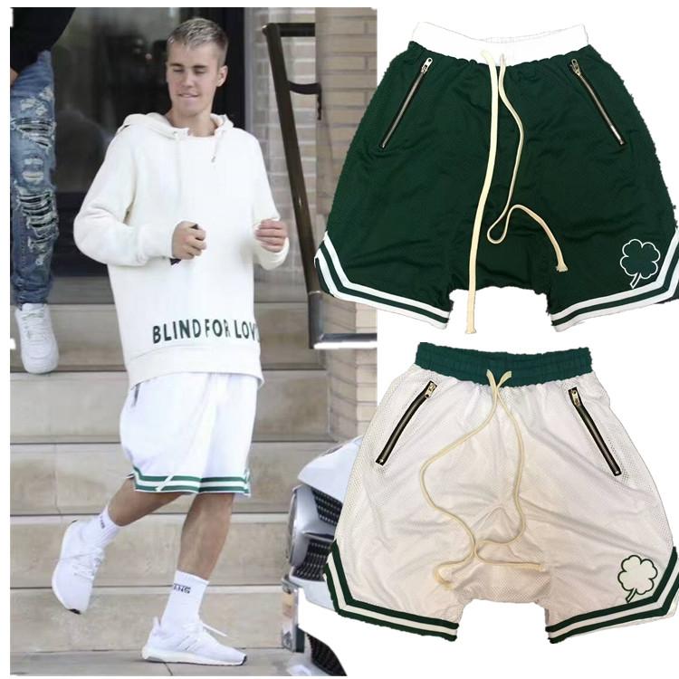 Fog Celtic fear of God clover Bieber loose sports casual hanging crotch mesh Basketball Shorts