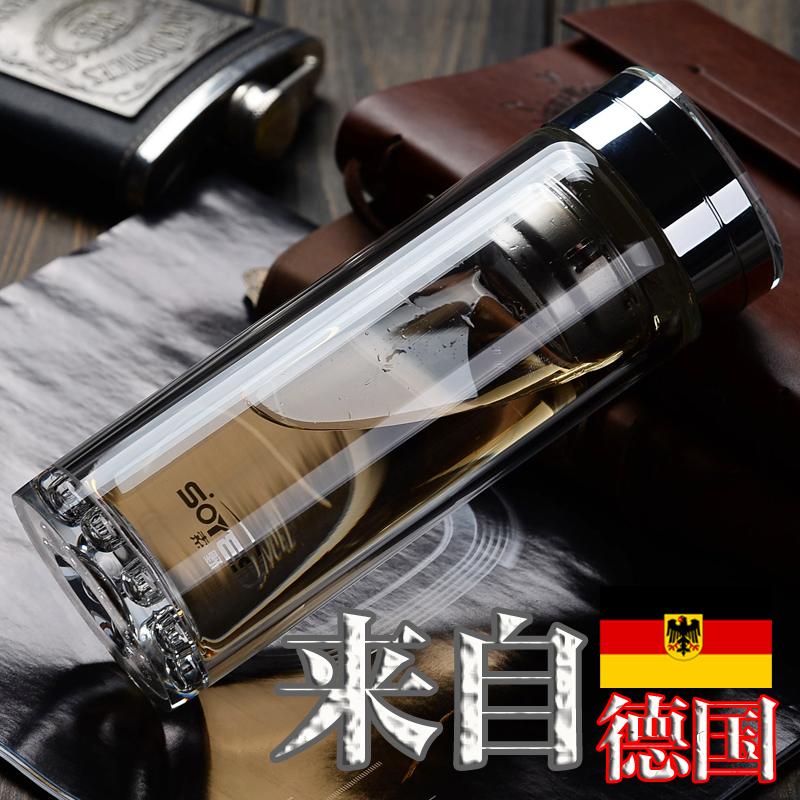 德國SOYES索野玻璃杯高檔商務水晶杯 透明茶杯子雙層隔熱保溫防燙