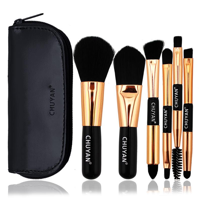 Double head Mini Travel Makeup Brush Set