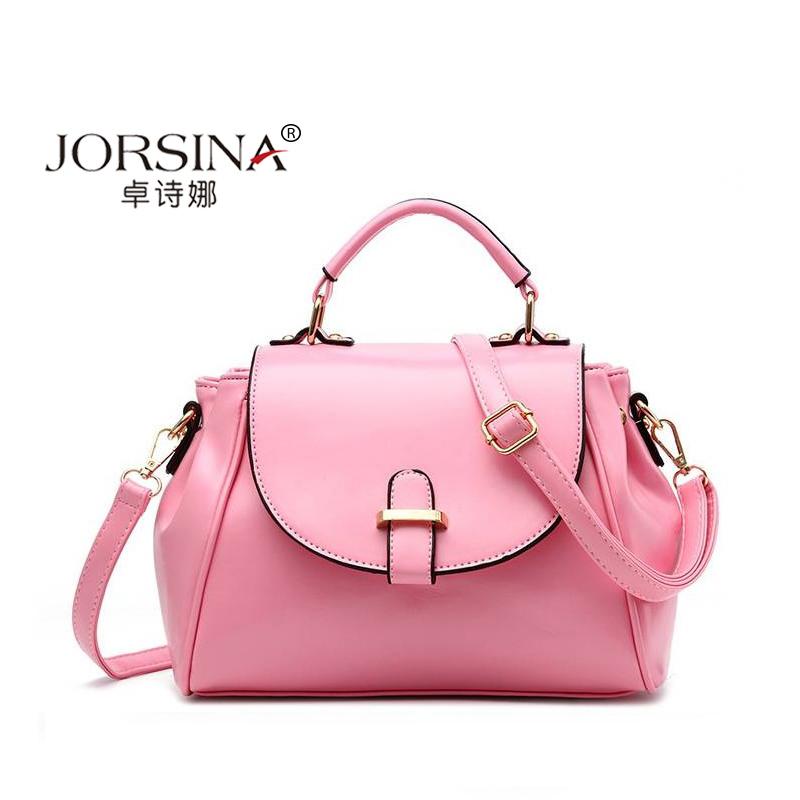 New womens bags in spring 2018 European and American cross pattern Handbag fresh doctors bag one shoulder slung ladys bag trend