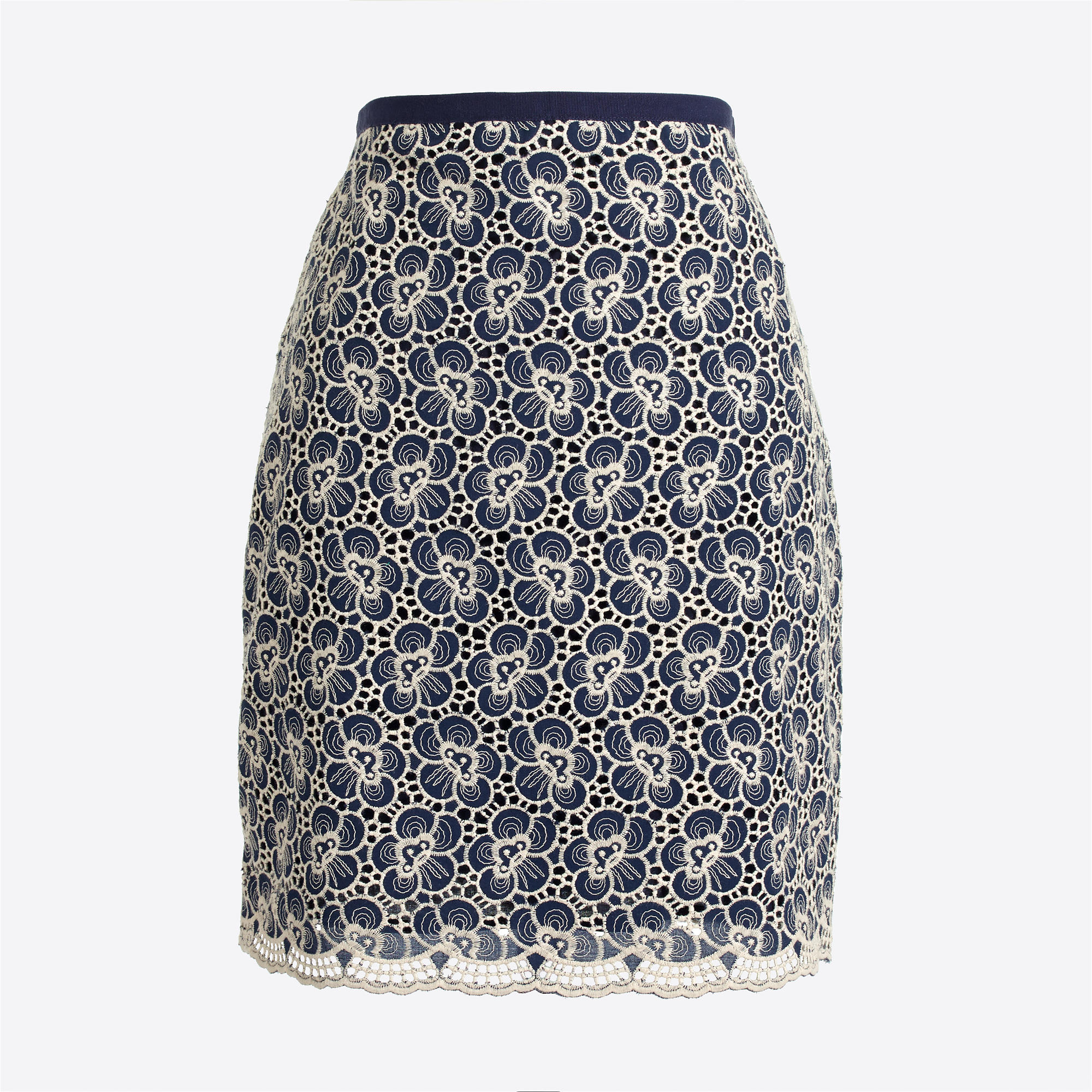 美国代购 j*crew f 刺绣花朵半身裙 Flounce skirt with floral