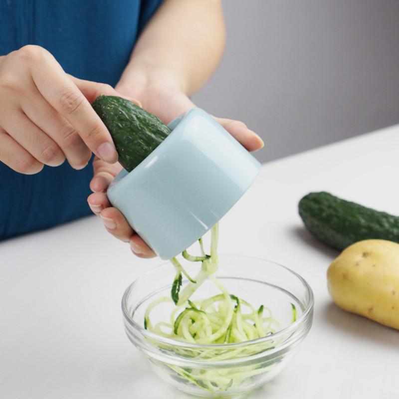螺旋刨丝器黄瓜胡萝卜土豆蔬果手动旋转切丝切菜削丝器厨房工具