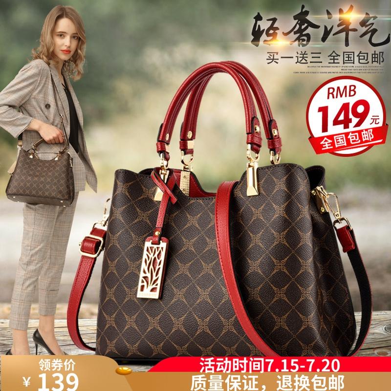 袋鼠时尚真皮女士包包2020新款大气手提斜跨中年妈妈礼物百搭皮包