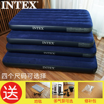 Intex Inflatable Mattress Single increase double thickened hoverboard bed home outdoor tent Bed Portable Rollaway