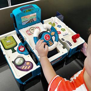 宝宝变形公交车惯性益智儿童玩具车
