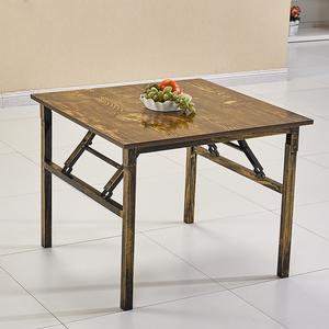 新款折叠饭桌便携式多功能餐桌租房矮桌家用户外茶几小桌子正方形