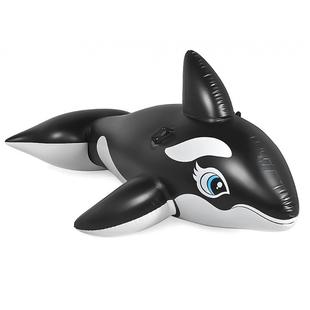 水上動物充氣坐騎大海龜藍鯨黑鯨浮排漂浮玩具成人兒童游泳圈氣墊