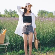 防晒衣女中长款2020春夏季新款韩版喇叭袖仙气雪纺上衣开衫薄外套