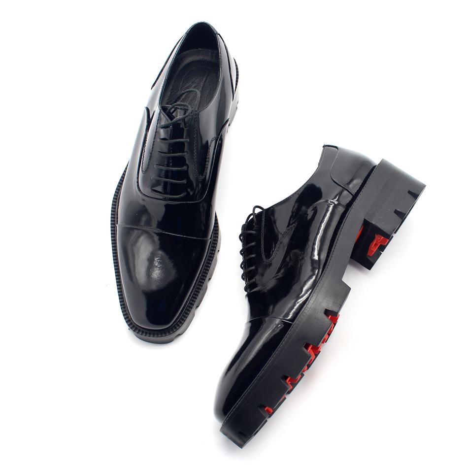 JINIWU吾倪季2018牛津厚底鞋纯素面显高绅士气质牛皮鞋可做超大码
