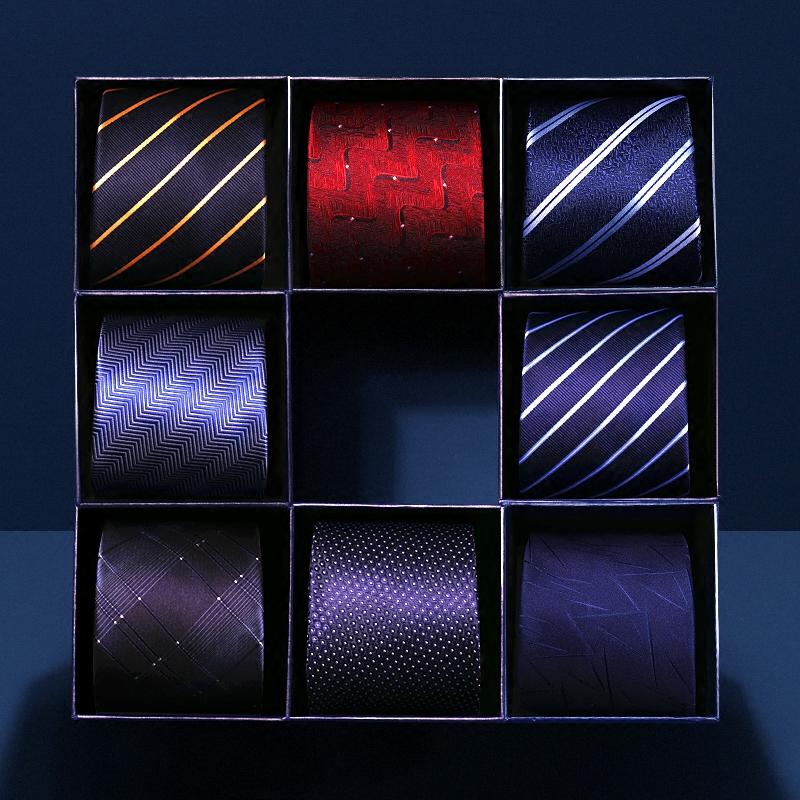 领带男正装商务8cm学生拉链式韩版潮流职业衬衫懒人男士结婚黑色