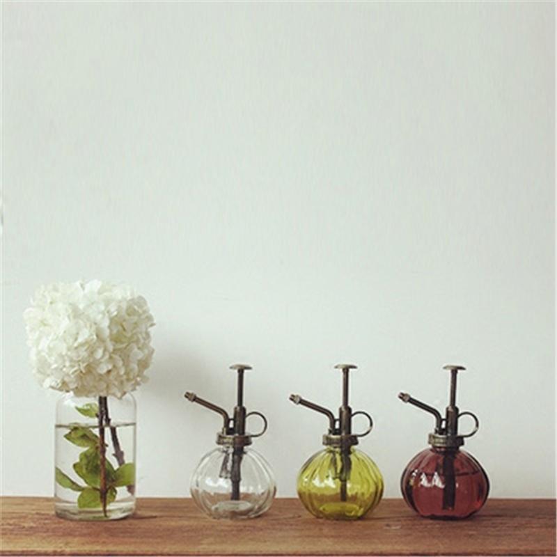 Ветер вещь Краткая запомнить шу ретро цвет стекло небольшой лейка больше мясо посыпать бутылка сад искусство лить чайник лить ваза