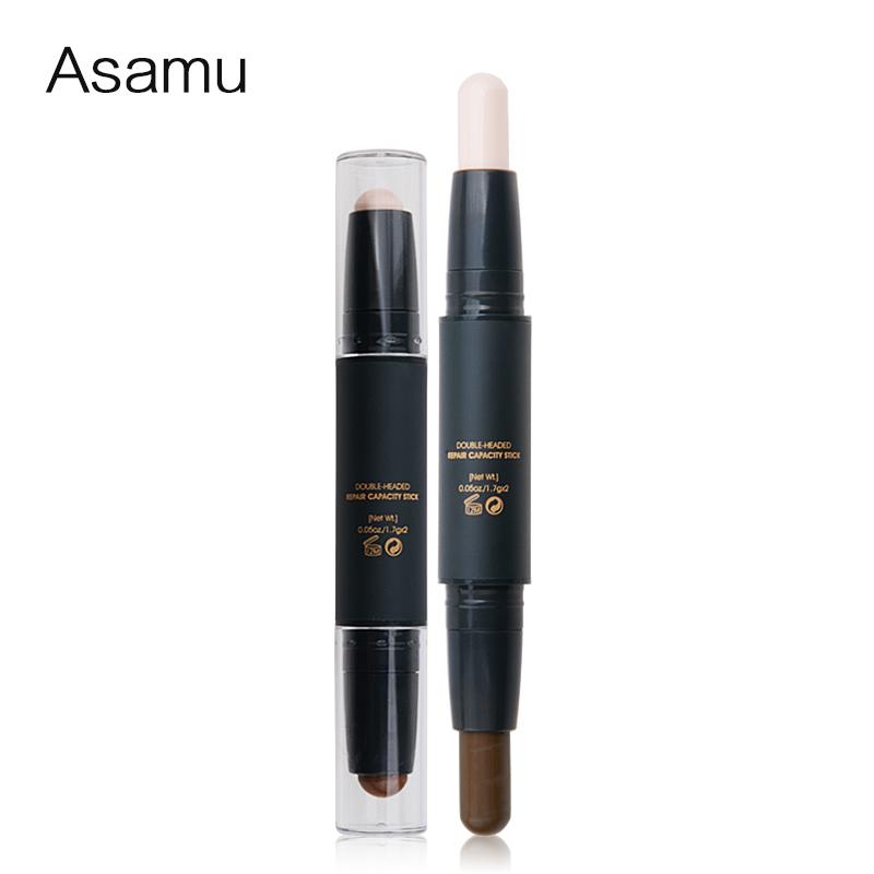(用3元券)Asamu双头遮瑕棒笔霜遮盖雀斑痘痘 痘印黑眼圈疤痕修容遮瑕膏液