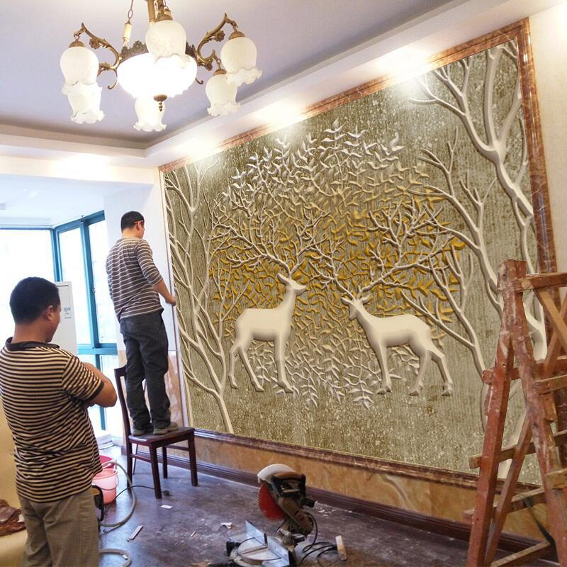 欧式电视背景墙壁纸客厅沙发3d壁画墙纸5d立体北欧8d卧室无缝墙布