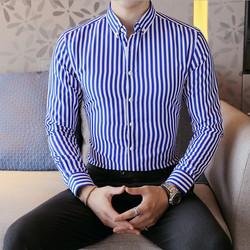 男士韩版休闲长袖衬衫