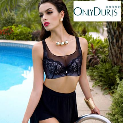 奥丽多丽1851011抹胸式文胸薄款聚拢薄模杯收副乳调整型内衣胸罩