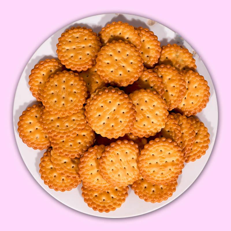 予吉野网红日式小圆饼干海盐咸味雪花酥饼干休闲办公室零食品小吃