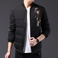 Woodpecker men's cotton padded jacket 2019 new winter Korean fashion brand fluffy cotton padded jacket short coat handsome and warm