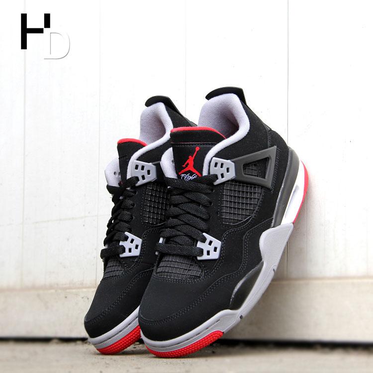 厚道体育 Air Jordan 4 AJ4黑红 热熔岩 308497-116-060 AQ9129