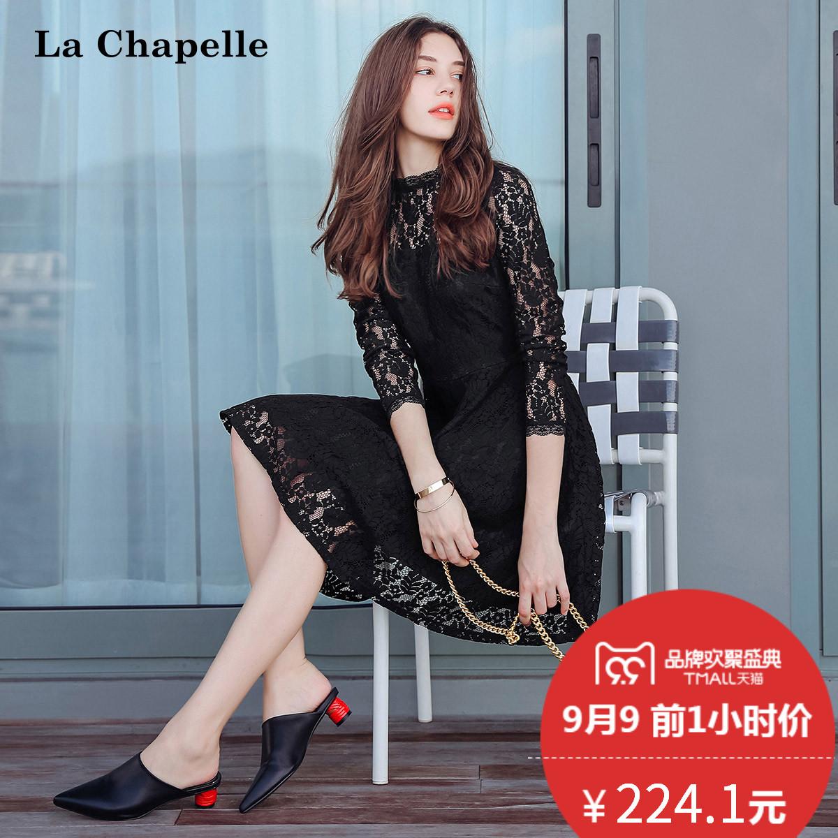 秋装长袖连衣裙2017新款韩版时尚收腰显瘦中长款气质名媛短裙子女
