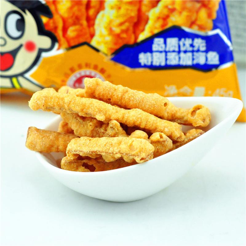 歡樂頌同款旺旺那多利調製魚酥45g^~5袋即食辦公室 膨化零食品