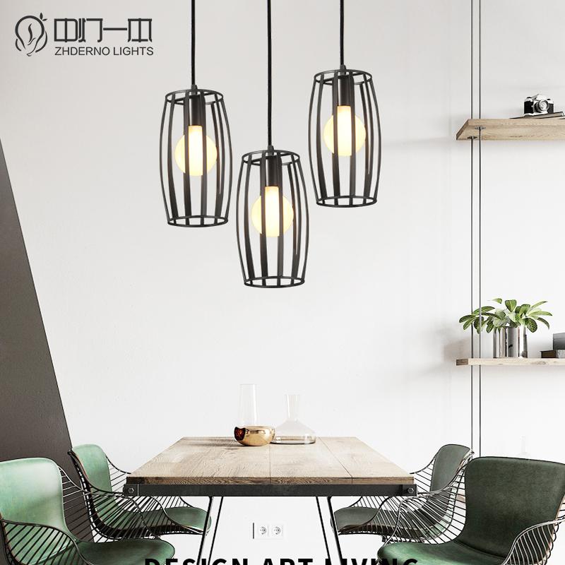 北欧灯具客厅简约风格现代创意个性饭厅餐桌?#21830;�led三头餐厅吊灯