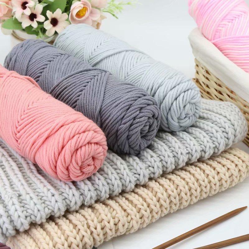 情人棉毛线 手工diy编织送男友女自织围巾毛线团粗线牛奶棉材料包