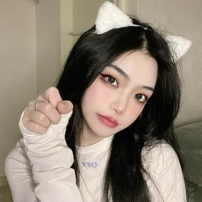 猫咪毛绒头饰发夹女可爱狐狸仿真兽耳头箍猫耳朵发卡COS拍照主播