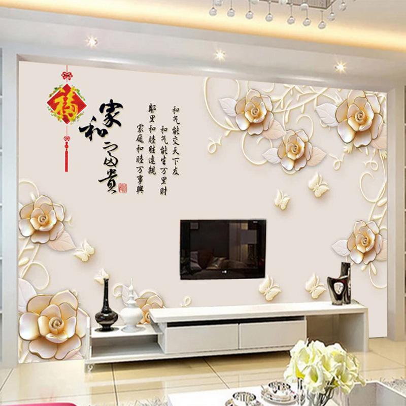 3d电视背景墙壁纸8d客厅现代简约墙纸5d影视墙布装饰家用壁画大气
